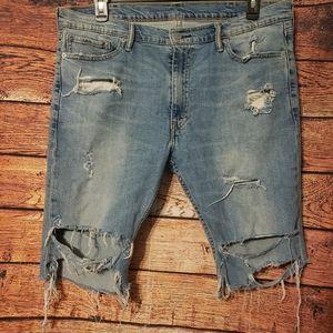 Levi 513 Distressed Cut Off Shorts